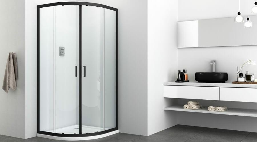 Fekete zuhanykabin