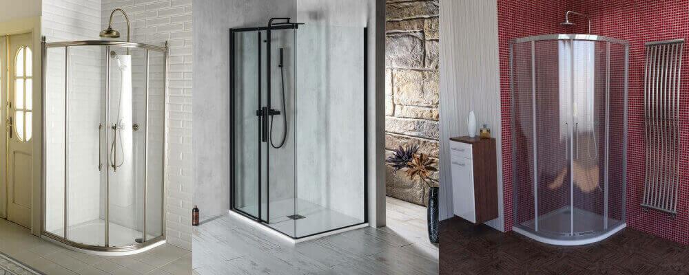 Zuhanykabin, Hidromasszázs zuhanykabin, Szögletes zuhanykabin, Íves zuhanykabin