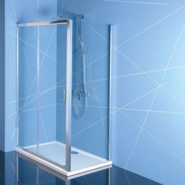 Polysan Easy Line zuhanyajtó (tolóajtó) oldalfallal, 110 x 70 cm, transzparent üveg EL1115EL3115