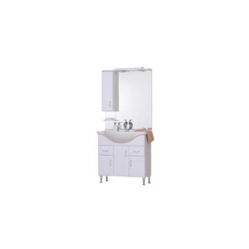 T-Boss Bianka szett 85 cm szekrény + mosdó + tükör + világítás - BUTOR-BIANKA85