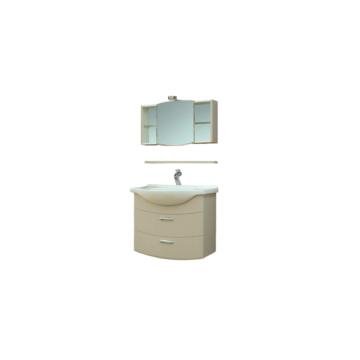 T-Boss Bianka Elegant szett 75 cm szekrény + mosdó + tükör + világítás - BUTOR-BIANKAELEG75