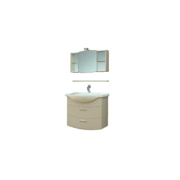 T-Boss Bianka Elegant szett 85 cm szekrény + mosdó + tükör + világítás - BUTOR-BIANKAELEG85