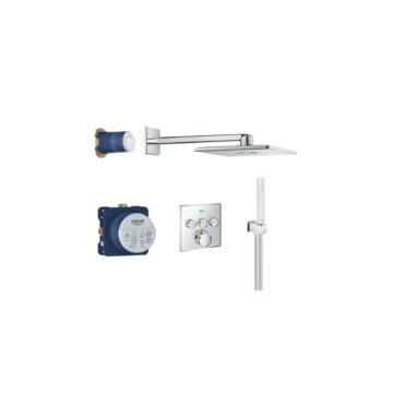 Grohe Smartcontrol termosztátos falsík alatti zuhany csomag, szögletes dizájn - GROHE-34706000