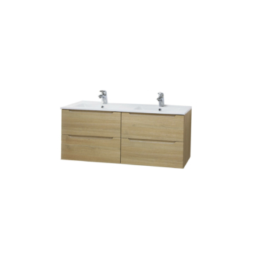 Hartyán bútor Elit mosdós szekrény, 120 cm, Sonoma, dupla 4 fiókkal - HARTYAN-E-M120-SON
