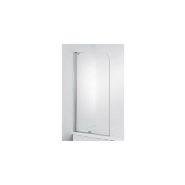 Jika Cubito Pure kádparaván 75x140 cm, átlátszó, ezüst profillal, balos - JIKA-H2574250026681