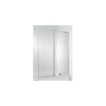 Jika Cubito Pure kétrészes kádparaván 115x140 cm, átlátszó, ezüst profillal, jobbos - JIKA-H2574260026681