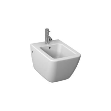 Jika Cubito Pure fali bidé, oldalsó vízbekötés, Easy fit szerelőkészlettel, 54 cm - JIKA-H8304210003041