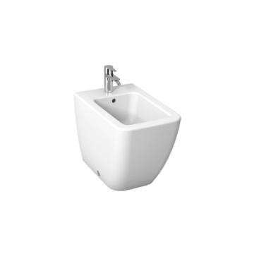 Jika Cubito Pure bidé, álló, oldalsó vízbekötéssel, csaplyukkal, fehér 56 cm - JIKA-H8324230003021