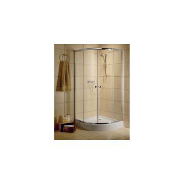 Radaway Classic A 90x90 zuhanykabin íves, barna üveg, króm keret 30000-01-08 - 30000-01-08