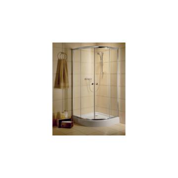 Radaway Classic A 90x90 zuhanykabin íves, barna üveg, fehér keret 30000-04-08 - 30000-04-08