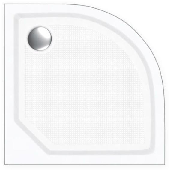 H2O ZENO Zuhanytálca 90x90+ szifon íves Standard