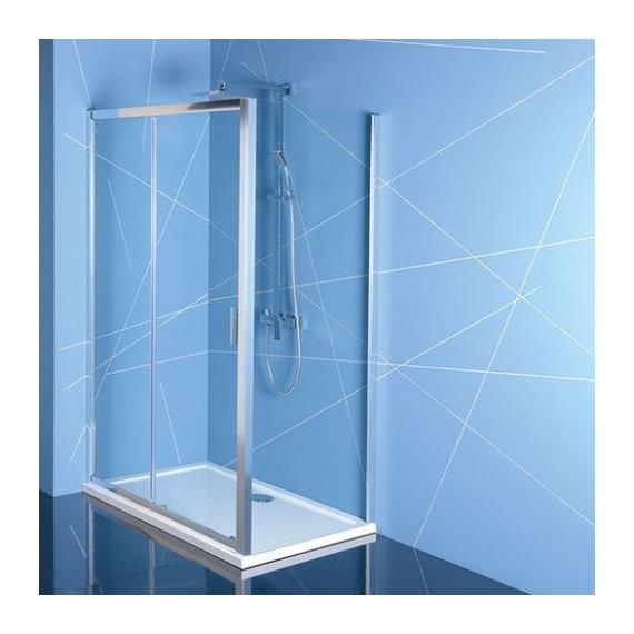 Polysan Easy Line zuhanyajtó (tolóajtó) oldalfallal, 100 x 70 cm, transzparent üveg EL1015EL3115