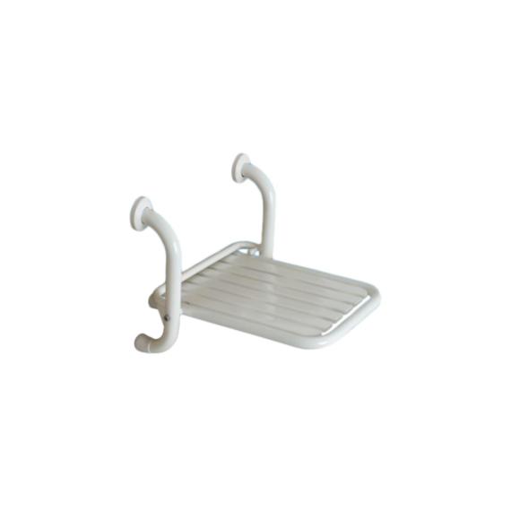 BK felhajtható zuhanyszék fali RM acélból fehér szinterezett - BK-THSRD