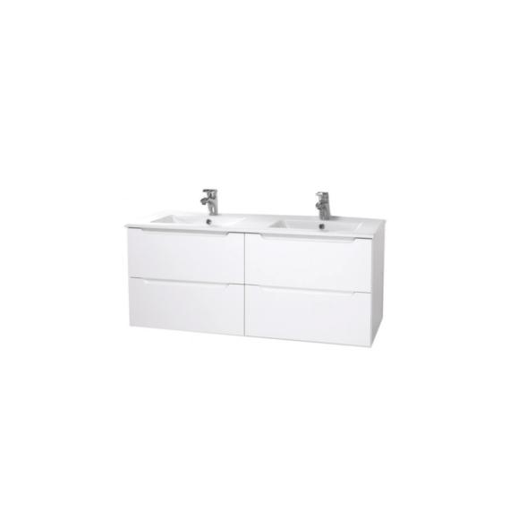 Hartyán bútor Elit mosdós szekrény, 120cm, fehér,dupla 4 fiókkal - HARTYAN-E-M120-FEH