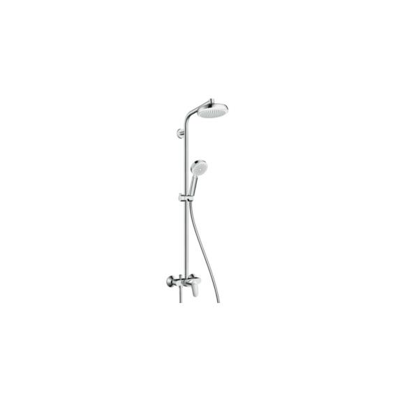 Hansgrohe Crometta 160 1jet Showerpipe egykaros csapteleppel fehér/króm (27266400) - HG-27266400