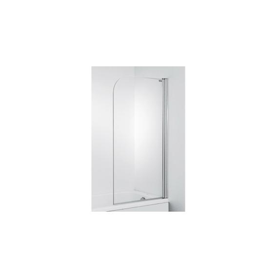 Jika Cubito Pure kádparaván 75x140 cm, átlátszó, ezüst profillal, jobbos - JIKA-H2564250026681