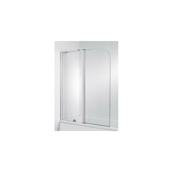 Jika Cubito Pure kétrészes kádparaván 115x140 cm, átlátszó, ezüst profillal, balos - JIKA-H2564260026681